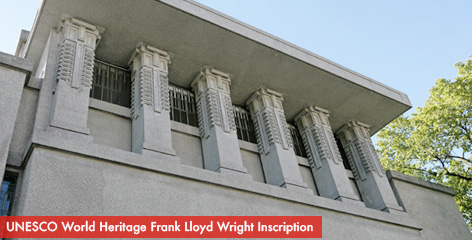 Unity Temple - UNESCO World Heritage Frank Lloyd Wright Inscription